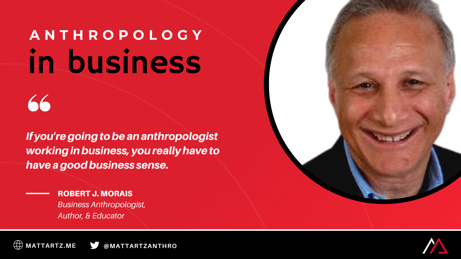 Robert J. Morais on the Anthropology in Business Podcast with Matt Artz