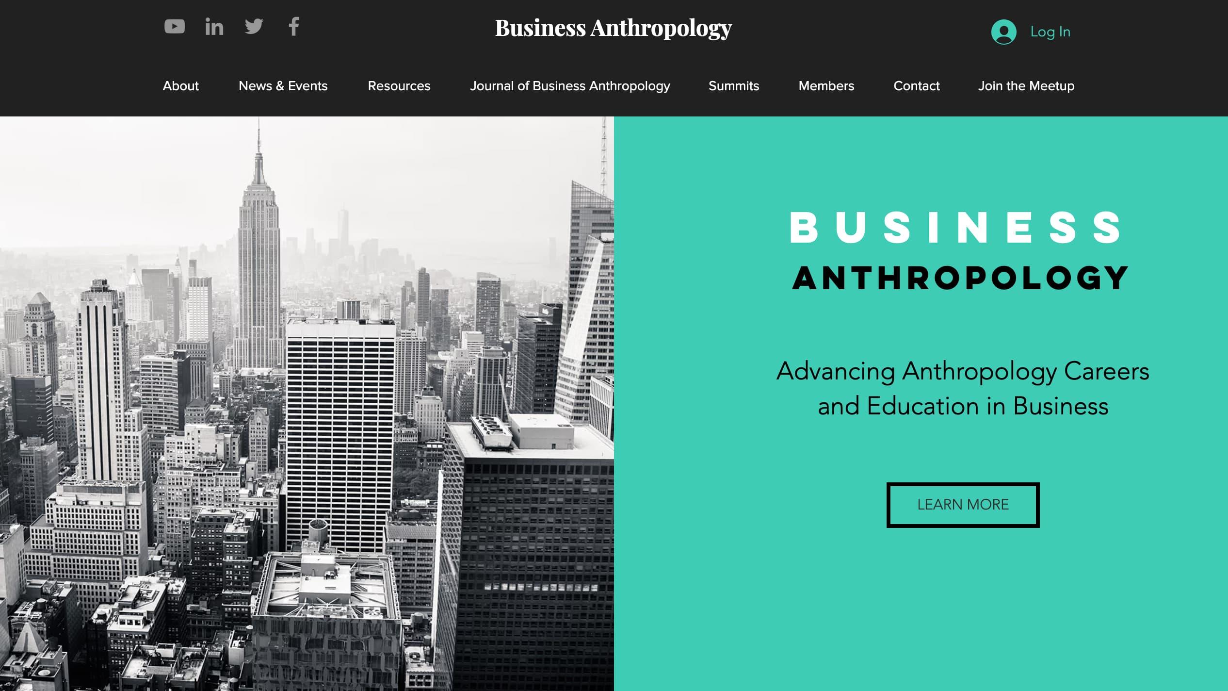 BusinessAnthro.com Website