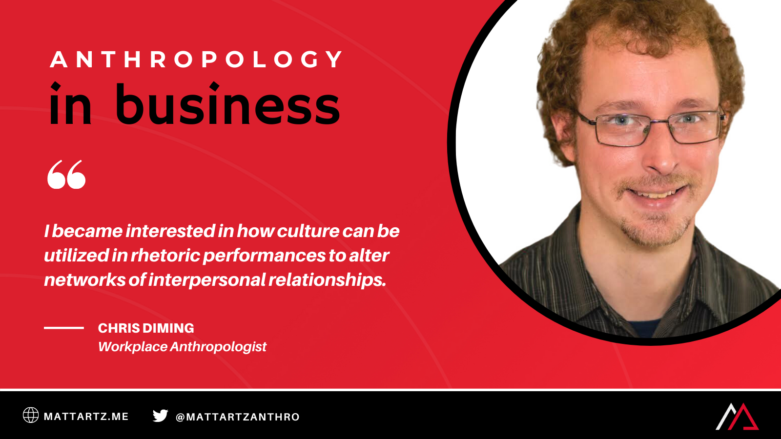 Chris Diming on the Anthropology in Business podcast with Matt Artz