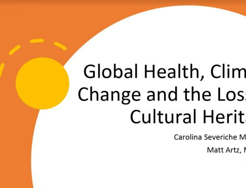 Global Health, Climate Change and the Loss of Cultural Heritag