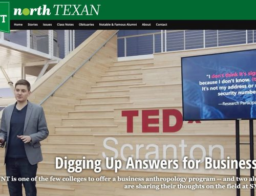 Matt Artz Featured in the UNT North Texan