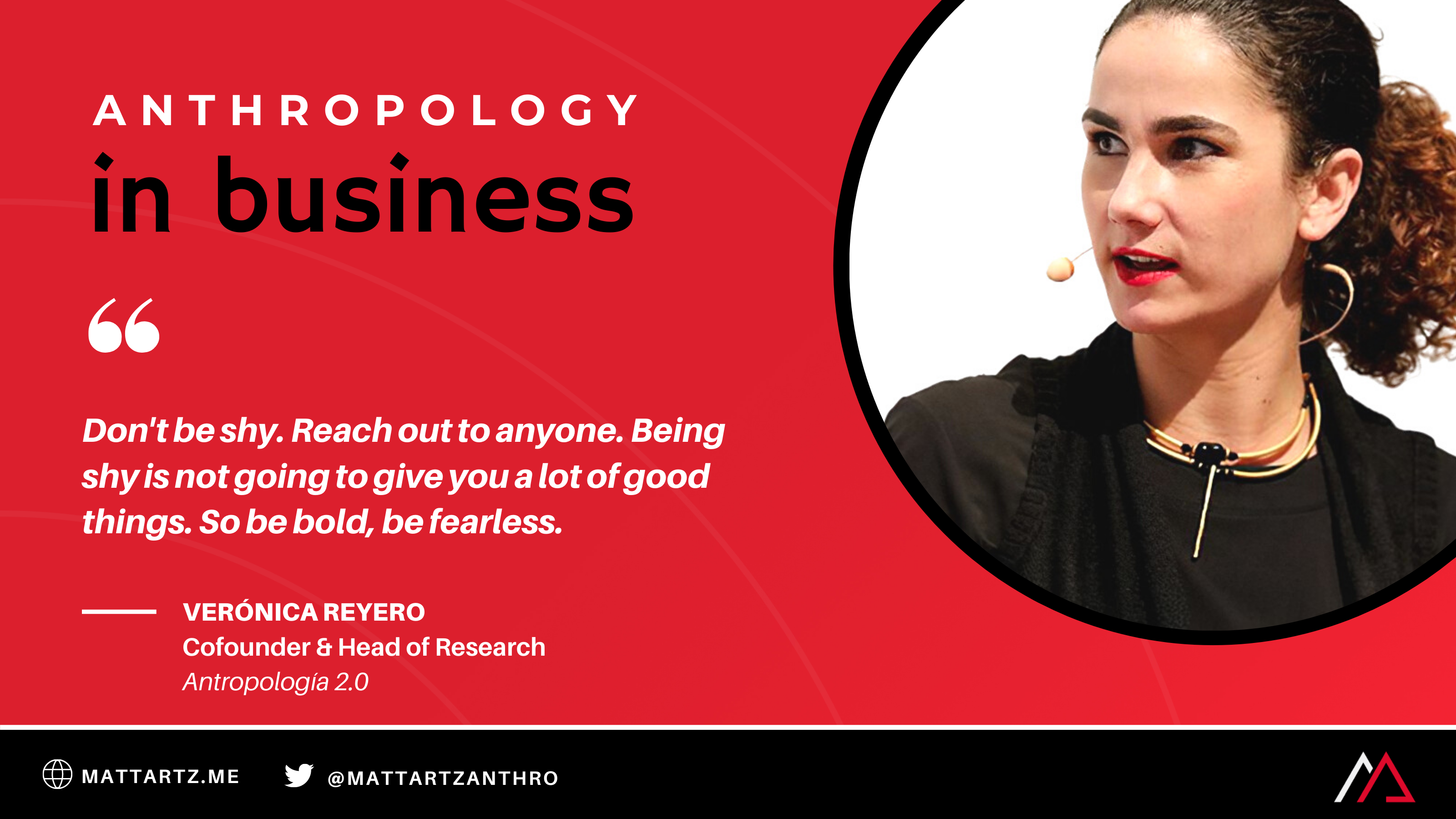 Verónica Reyero on Anthropology in Business with Matt Artz